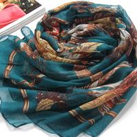 Fluid leopard print scarf sun silk scarf autumn scarf air conditioning cape scarf dual