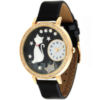 Watch female polymer clay three-dimensional cartoon table fashion vintage diamond quartz ladies watch 5300
