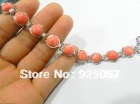 "New pink Malachite Beads  Bracelet 8""L Fashion jewelry"