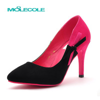 Moolecole 2013 women's stiletto summer color block decoration pointed toe single shoes wedding shoes