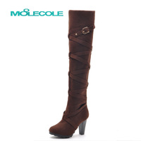 2013 25pt zonegruppen ultra high heels boots repair elastic velvet boots over-the-knee thick heel boots