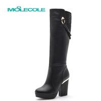 2013 winter boots thermal explaines liner ultra high heels boots over-the-knee tall boots