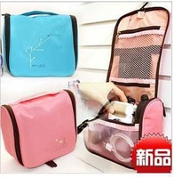 Free Shipping 2013 Fashion Practical multilayer Travel Toiletry bag Cosmetic Make Up Storage Purse Zipper Organizer Proof Bag