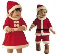 New 2013 baby winter romper clothing sets +Hat Long Sleeve newborn rompers christmas boy girl dress autumn -summer B45