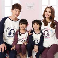 Lovers sleepwear female long-sleeve family pack male autumn family fashion sleepwear lounge set