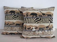 Jacquard  african animal design holiday  cushion covers for decorative