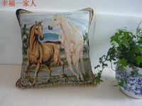 Home decorative pastoral horse holiday cushion covers