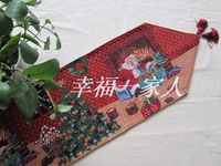35%cotton65%polyester jacquard Christmas sweet decorative tapestry table runners