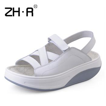 Zhr summer platform sandals swing shoes platform sandals women's sandals women's shoes rollaround female sandals female r03