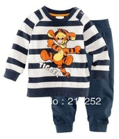 freeshipping Children's Baby pajamas suit sets Tigger boys girls Pyjamas suits Kids pjs shirts+ pants 100% cotton 6sets XC-121