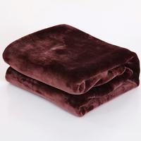 blanket plain coral fleece blanket solid color flange  coral fleece blanket casual blanket bed sheets