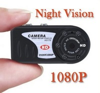 Free Shipping T8000 1080P OR 480P IR Night Vision Metal Hidden Camera Mini Camcorder Thumb Mini DV MINI CAMERA SPORT CAMERA