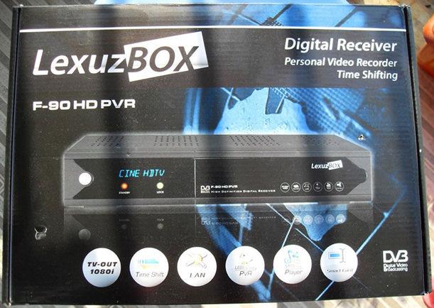 Hot sale 5pcs/lot dvb c set top box Az America / Lexuzbox F90 HD PVR Free shipping DHL Fedex IE 3 ~7 days(China (Mainland))