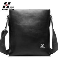 New Hautton male shoulder bag genuine leather casual cowhide bag fashion commercial male messenger bag
