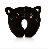 Trendy Cute Kitten U-Shape Pillow Neck Pillow Design Travel car home pillow Free shipping