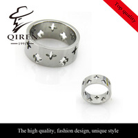 Leaves hollow our lucky ring for women four leaves ring stars ring for women, QR-195