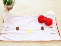 Free Shipping 64*42cm Hot Single People Short Plush Cute Kitty Head Shape Pillowcase
