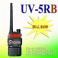 2013 new luanch BAOFENG UV-5RB 136-174MHz(RX/TX) & UHF400-520MHz(TX/RX) Dual Band 5W/1W Two-way Radio free shipping