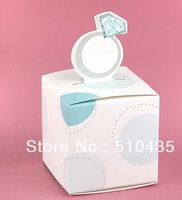 Free shipping!5*5*9(H)cm ring candy box.Wedding Favor Boxes, Decorating Box, Chocolate Box