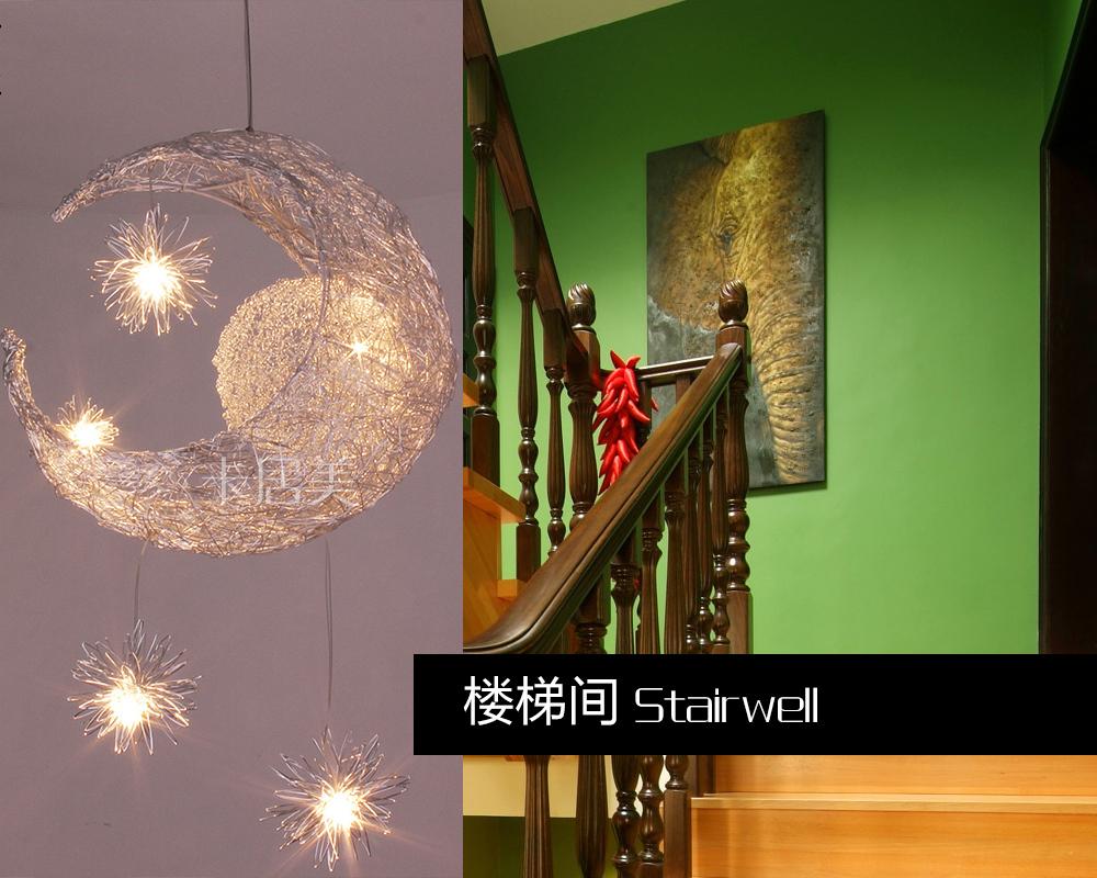 Moon & Stars pendant light personalized modern bedroom lamp child pendant lamp ceiling lamp - G4 *5PCS beads 110V 220V(China (Mainland))