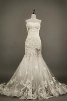 2014 New design Real Sample Free shipping Sweetheart vestidos de noiva Elegant Real Lace Mermaid Wedding Dresses DBY-112
