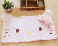 Free Shipping Hot Single 64*42cm Short Plush Kitty Cute Pink Big Ears Shape Pillowcase