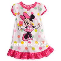 Retail baby Girls Summer Dresses icecream designer Minnie Mouse  princess dresses  Polka Dot Girl Dress Children's Clothing