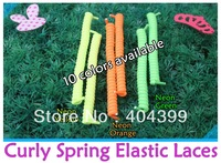 New Arrival~1000pair/lot~Curly Elastic Laces~Spring Elastic Laces~No Tie Elastic Shoelaces~10 colors available~DHL FREE SHIPPING