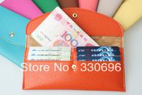 women's PU envelope clutch bag long leather wallet Ladies designer purse Checkbook handbag free shipping