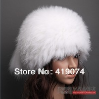 Hand-knitted caps upscale children 's leather hat helmet mink , fur hat