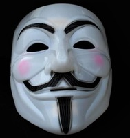 free shipping guy fawkes V vendetta team pink blood scar masquerade masks Halloween carnival Mask(adult size) 100pcs/lot