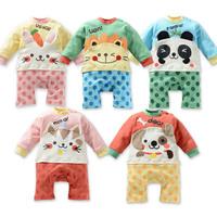 2013 children's clothing baby autumn romper cartoon newborn long-sleeve romper infant clothes cartoon design