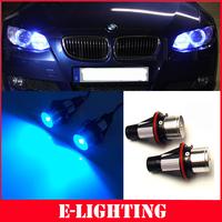 FOR BMW 525i 530i 645Ci 745Li 760i M5 M6 HALO RING LED ANGEL EYE BULB PAIR BLUE