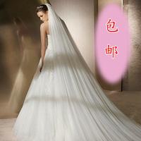 The bride wedding dress formal dress veil soft screen ultra long 3 meters veil 2 style bridal veil