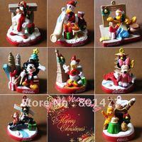 "8pcs Christmas Xmas Cartoon Ornament Mickey Mouse,Minnie Mouse,Donald Duck,Daisy,Goofy,Pluto,Chipand Dale Figure 2""/5cm"