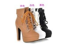 2013 autumn and winter martin boots platform thick heel platform high-heeled boots ankle boots