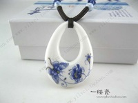 Butterfly flower big drop national trend ceramic pendant necklace accessories