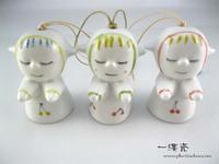 Jingdezhen ceramic accessories clay baby wind chimes accessories
