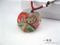 Glaze beauty ceramic pendant personality paragraph accessories