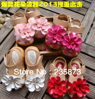 Wholesale and retail - flowers baby sandals, soft tendon at the end princess shoes, wedding dress, lovely girl with a gift