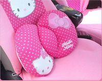1pcs retail package,2013hot sale car interior decoration /hello kitty pink bowknot car accessory/waist protection, Factory store