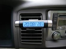 DZ-698 Car electronic watch car electronic clock auto clock car thermometer luminous car clock Free Shinpping(China (Mainland))