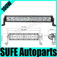 NEW 100W CREE LED Work Light Bar LED light bar Offroad 12V 24V led offroad driving light bar 8500LM 4X4,ATV,SUV SPOT/FLOOD Light