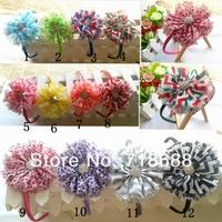 Shabby Chevron flower with a Headband 12 COLOR 20PCS/LOT AngelBaby