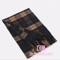 100% wool scarf for men autumn and winter thickening warm muffler scarf plaid fashion men scarf 9 style