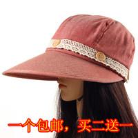 Summer female sun-shading folding hat anti-uv outdoor big sun hat visor