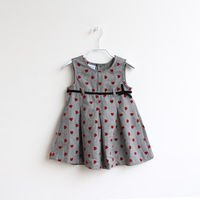 Female child summer pure cotton vest one-piece dress baby skirt child princess dress sleeveless