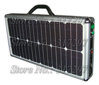 Free Shipping! 20W Portable Solar Generator + Ultra Thin Briefcase Design + LED Lighting + Music System+ AC Charger + AC Out