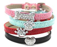 pu leather dog cat collar dog supplies