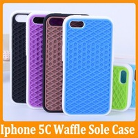 10pcs/lot  Waffle Van Sole Shoe Grid Silicone Case For iPhone 5 5S 5C Iphone5C Without Retail Package Free Shipping